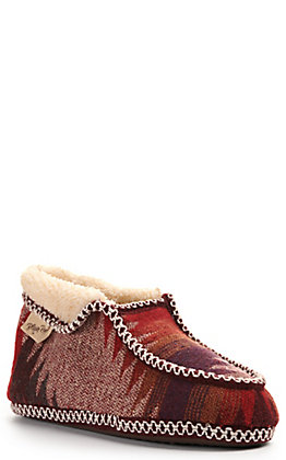 Blazin Roxx Women's Maroon Slip On Fold Over Ankle Slipper