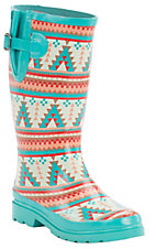 M&F Women's Dakota Southwest Round Toe Rain Boots