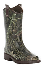 Double Barrel by M&F Kids Camo Square Toe Rain Boot