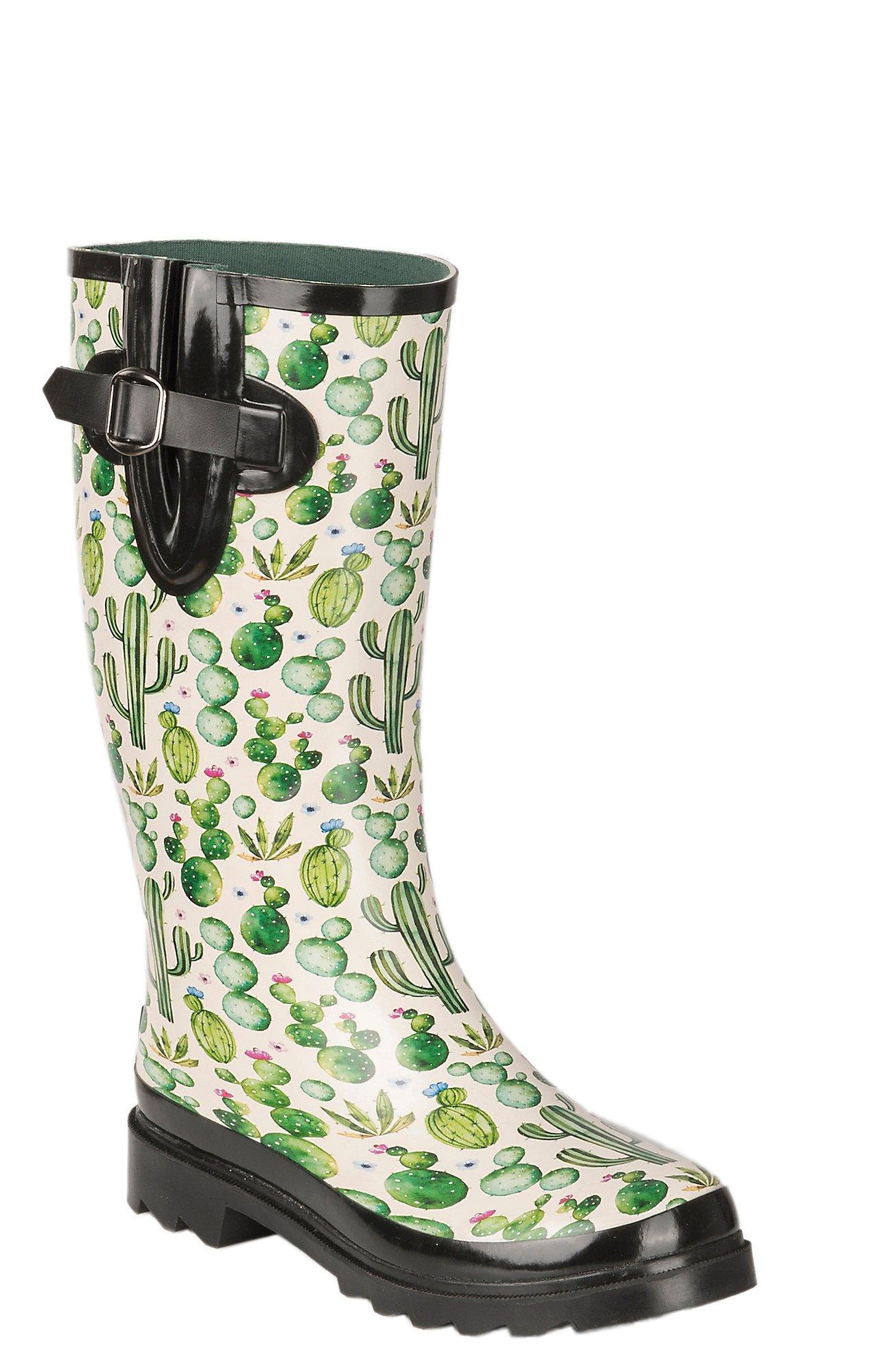 Women's Mesa Round Toe Rain Boots Rubber
