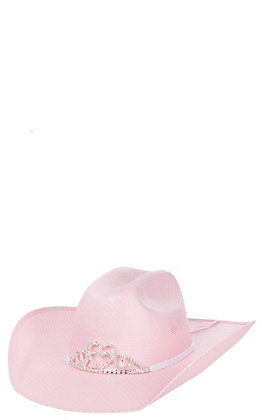 M&F Double S Girls' Pink Sancho Hat With Tiara