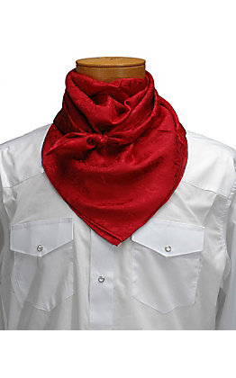 M&F Red Tonal Floral Wild Rags Scarf