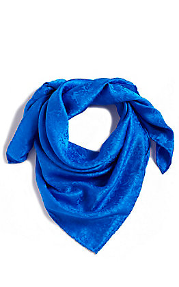 M&F Royal Blue Tonal Floral Wild Rags Scarf