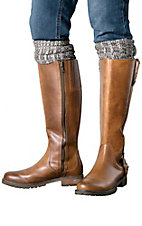 Ariat Women's Black & Brown Knee High Socks