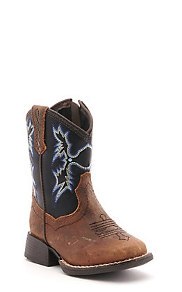 Ariat Toddler Brown and Black Square Toe Western Boots