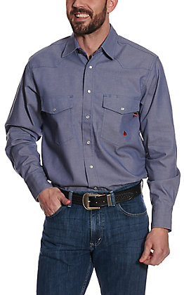 Forge Men's Light Denim Long Sleeve FR Work Shirt