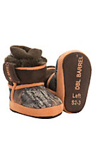 DBL by M&F Infant's Mossy Oak Camo with Orange Boot Slippers