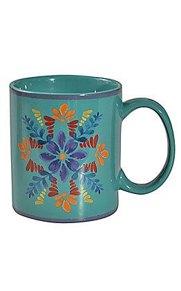 HiEnd Accents Bonita Turquoise Coffee Mug