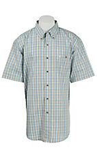 Wrangler Men's Easy Care Plaid S/S Western Shirt MG4043M