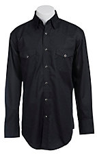 Wrangler George Strait Troubadour Men's Long Sleeve Snap Shirt MGS13BK