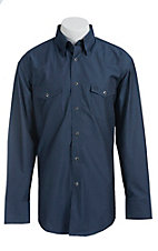 Wrangler George Strait Troubadour Men's Long Sleeve Snap Shirt MGS14BLX- Big & Tall Sizes