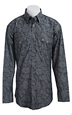 Wrangler George Strait Troubadour Men's Long Sleeve Snap Shirt MGS15BKX- Big & Tall Sizes