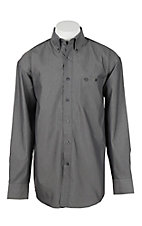 George Strait by Wrangler L/S Men's Black Chambray Western Shirt