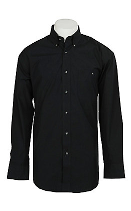 Wrangler George Strait Men's Solid Black L/S Western Shirt
