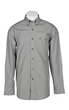 Wrangler George Straight Men's Solid Grey L/S Western Shirt