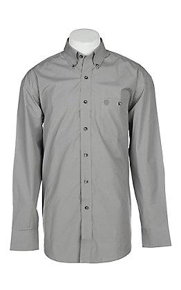 Wrangler George Strait Men's Solid Grey L/S Western Shirt