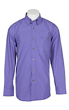Wrangler George Straight Men's Solid Purple L/S Western Shirt