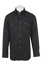 George Strait Wrangler Troubador Collection Black L/S Western Shirt