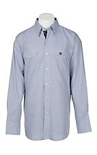George Strait Troubadour by Wrangler Men's Blue and Black Checkered L/S Western Shirt