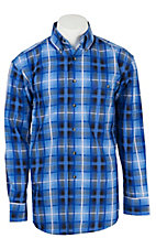 George Strait by Wrangler L/S Mens Plaid Shirt MGSB131X- Big & Talls