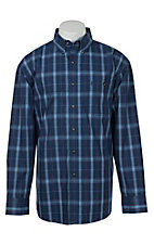 George Strait by Wrangler L/S Mens Plaid Shirt MGSB133