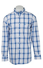 George Strait by Wrangler L/S Mens Plaid Shirt  MGSB134