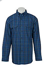 George Strait by Wrangler L/S Mens Plaid Shirt MGSB136