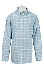 George Strait by Wrangler L/S Mens Plaid Shirt MGSB244X- Big & Talls