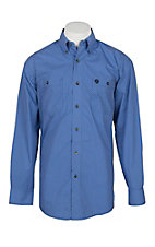George Straight by Wrangler Men's Blue w/ Mini Print L/S Western Shirt