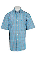 George Strait by Wrangler S/S Mens Plaid Shirt-BIg & Tall MGSB449X