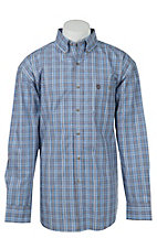 George Strait by Wrangler L/S Mens Plaid Shirt MGSE146X- Big & Talls