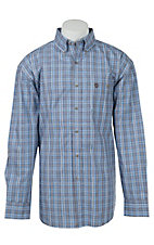 George Strait by Wrangler L/S Mens Plaid Shirt MGSE146