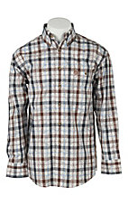 George Strait by Wrangler L/S Mens Plaid Shirt  MGSE147