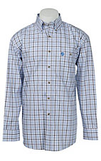 George Strait by Wrangler L/S Mens Plaid Shirt MGSE151