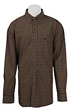 George Strait by Wrangler L/S Mens Plaid Shirt MGSE172