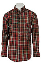 George Strait by Wrangler L/S Mens Plaid Shirt MGSE174X- Big & Talls