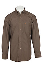 Wrangler George Strait Men's Brown Geo Print Western Shirt