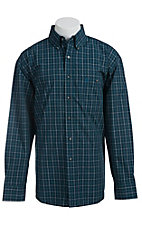 George Strait by Wrangler L/S Mens Plaid Shirt MGSG012