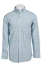 George Strait by Wrangler L/S Mens Plaid Shirt MGSG013
