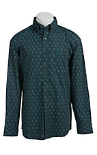 George Strait by Wrangler L/S Mens Print Shirt MGSG015