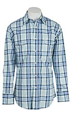 George Strait by Wrangler L/S Mens Plaid Snap Shirt MGSG206