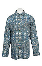 George Strait by Wrangler Men's Green Paisley Western Shirt