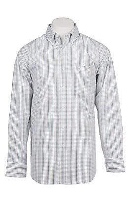 George Strait by Wrangler Men's Green Plaid Western Shirt