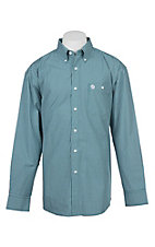 George Strait by Wrangler Men's Green Plaid Western Shirt