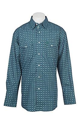 George Strait by Wrangler Men's Green Medallion Western Shirt
