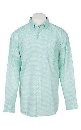 George Strait by Wrangler Men's Green Medallion Western Shirt