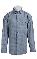 George Strait by Wrangler L/S Mens Plaid Shirt  MGSH018