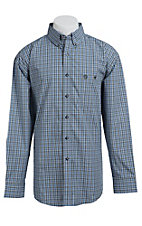 George Strait by Wrangler L/S Mens Plaid Shirt MGSH019