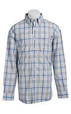 George Strait by Wrangler L/S Mens Plaid Shirt  MGSH023