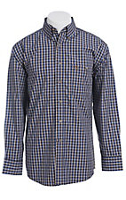 George Strait by Wrangler L/S Mens Plaid Shirt MGSK040